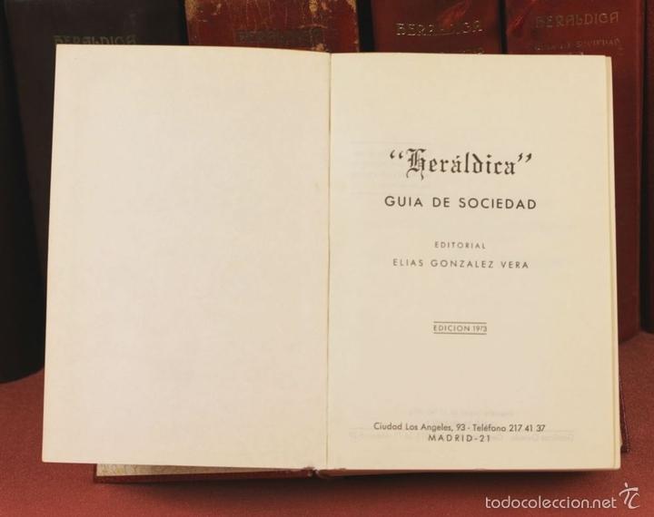 Libros de segunda mano: 7794 - HERALDICA GUÍA DE SOCIEDAD. 12 VOLUM(VER DESCRIP). TALL. J. TORROBA. 1959/1978. - Foto 5 - 58064716