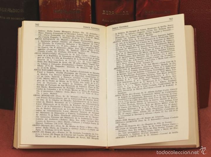 Libros de segunda mano: 7794 - HERALDICA GUÍA DE SOCIEDAD. 12 VOLUM(VER DESCRIP). TALL. J. TORROBA. 1959/1978. - Foto 7 - 58064716