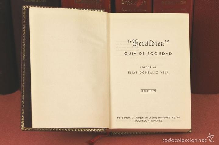 Libros de segunda mano: 7794 - HERALDICA GUÍA DE SOCIEDAD. 12 VOLUM(VER DESCRIP). TALL. J. TORROBA. 1959/1978. - Foto 9 - 58064716