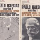 Libros de segunda mano: PABLO IGLESIAS. ESCRITOS 2 VOLS. REFORMISMO SOCIAL. EL SOCIALISMO EN ESPAÑA. MADRID, 1975.. Lote 121353256