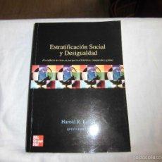 Libros de segunda mano: ESTRATIFICACION SOCIAL Y DESIGUALDAD.EL CONFLICTO DE CLASE EN PERSPECTIVA HISTORICA.HAROLD R.KERBO.. Lote 58585775
