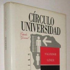 Libros de segunda mano: SOCIOLOGIA - SALVADOR GINER *. Lote 58685632