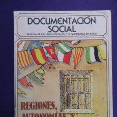 Libros de segunda mano: REGIONES, AUTONOMIAS Y NACIONALIDADES EN ESPAÑA. 1981. Lote 60783071