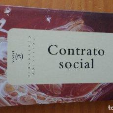 Libros de segunda mano: CONTRATO SOCIAL (JEAN JACQUES ROUSSEAU) (ESPASA - 1998) . Lote 62577248