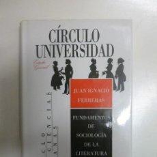 Libros de segunda mano: FUNDAMENTOS DE SOCIOLOGÍA DE LA LITERATURA - JUAN IGNACIO FERRERAS - ED. CÍRCULO DE LECTORES.158PP. Lote 62840272