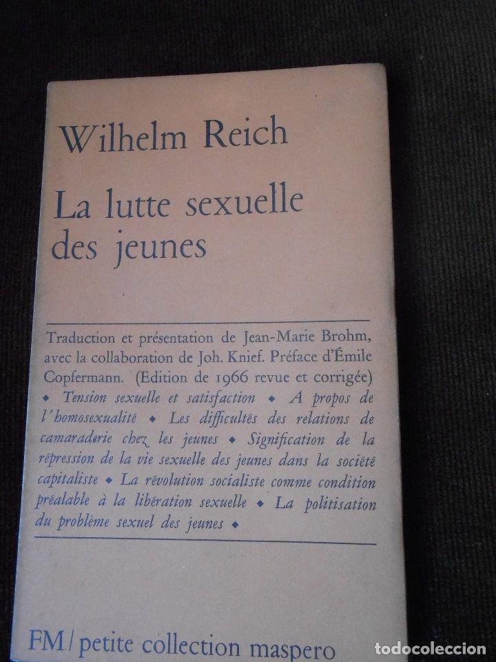 WILHELM REICH - LA LUTTE SEXUELLE DES JEUNES (Libros de Segunda Mano - Pensamiento - Sociología)