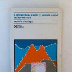 Libros de segunda mano: DESIGUALDAD, PODER Y CAMBIO SOCIAL EN MONTERREY - MENNO VELLINGA - ED. SIGLO XXI. 216PP. Lote 66205626