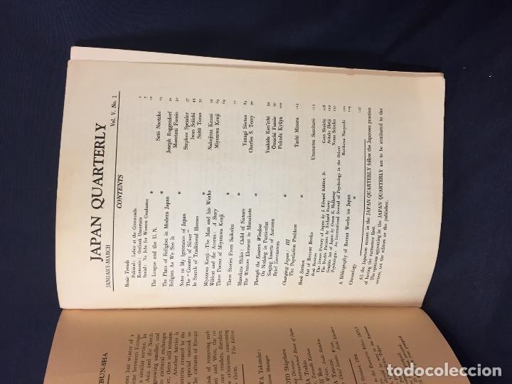 Libros de segunda mano: japan quarterly vol V nº1 january march 1958 asahi shimbun-sha tokyo 25,5x17,5cms - Foto 3 - 67473277