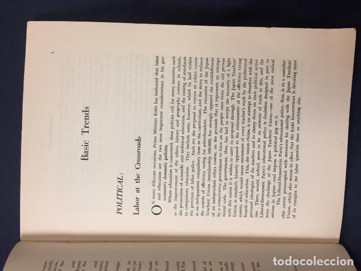 Libros de segunda mano: japan quarterly vol V nº1 january march 1958 asahi shimbun-sha tokyo 25,5x17,5cms - Foto 5 - 67473277