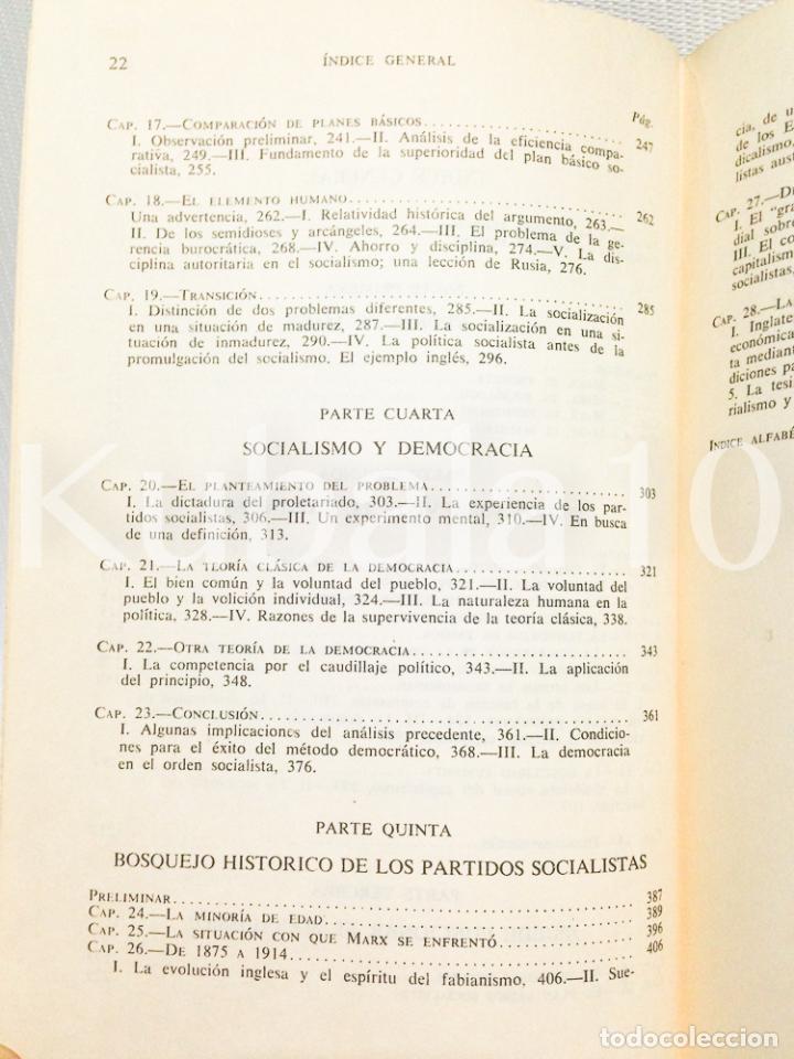 Libros de segunda mano: CAPITALISMO, SOCIALISMO Y DEMOCRACIA ·· JOSEPH A. SCHUMPETER ·· ED. AGUILAR - Foto 4 - 68129025