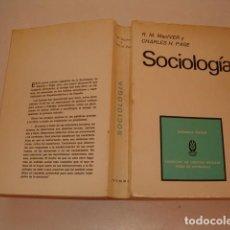 Libros de segunda mano: R. M. MACLVER, CHARLES H. PAGE. SOCIOLOGÍA RMT78015. . Lote 70229561