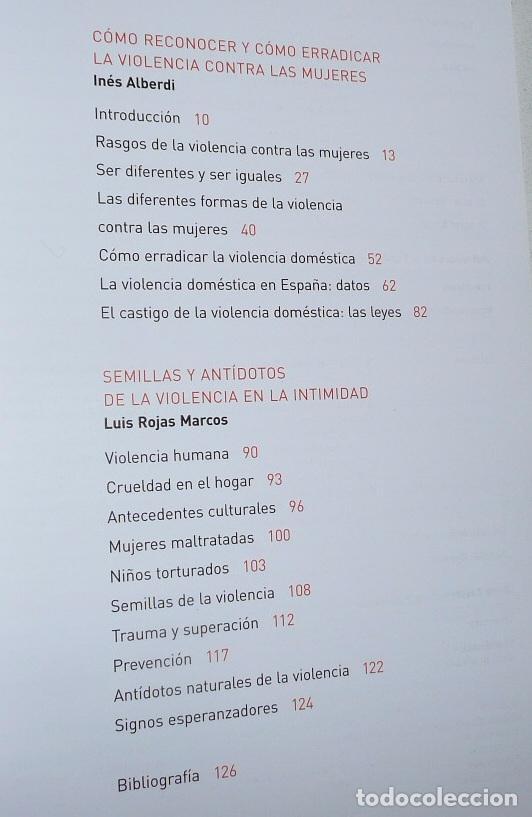 Libros de segunda mano: Violencia: Tolerancia cero - Inés Alberdi, Luis Rojas Marcos (Obra Social La Caixa) - Foto 3 - 72145547