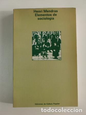 ELEMENTOS DE SOCIOLOGÍA.- HENRI MENDRAS (Libros de Segunda Mano - Pensamiento - Sociología)