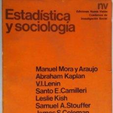 Libros de segunda mano: ESTADÍSTICA Y SOCIOLOGÍA. M. MORA Y ARAUJO, A. KAPLAN, V. I. LENIN, L. KISH... LIBRO DE 184 PÁGINAS. Lote 75413231