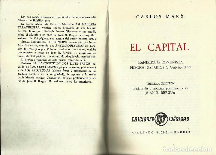 Libros de segunda mano: REGALA LECTURA *EL CAPITAL*. -Carlos Marx- - Foto 2 - 79682069