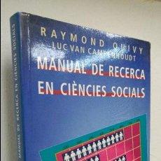 Libros de segunda mano: MANUAL DE RECERCA EN CIÈNCIES SOCIALS . Lote 80632786