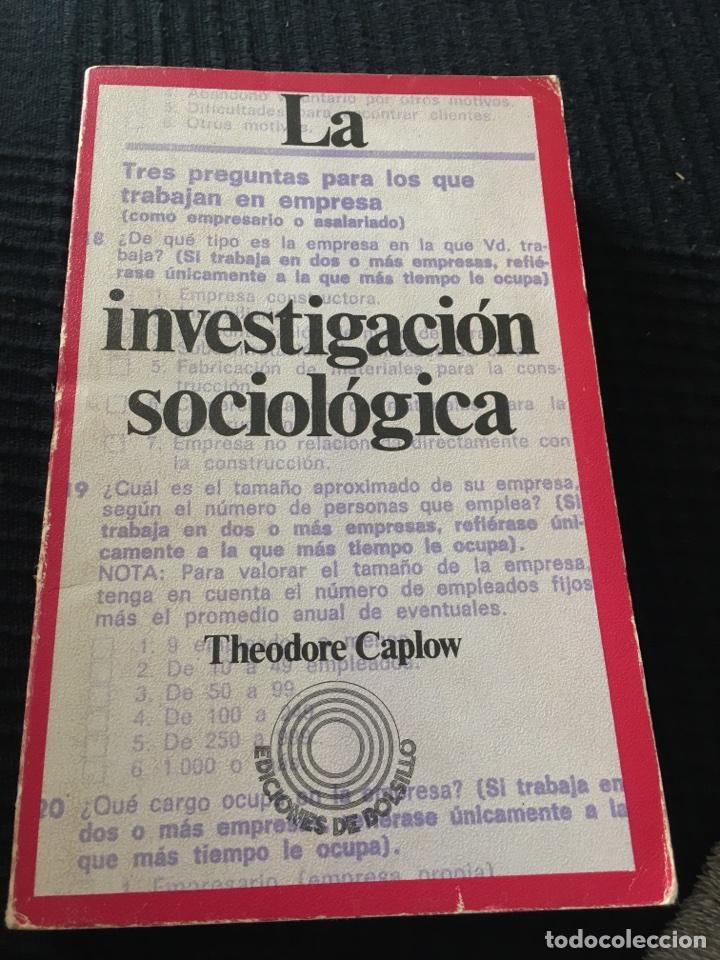 LA INVESTIGACION SOCIOLOGICA (Libros de Segunda Mano - Pensamiento - Sociología)