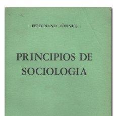 Second hand books - Ferdinand TÖNNIES.– Principios de Sociología. México, Fondo de Cultura Económica, 1946 - 83928084