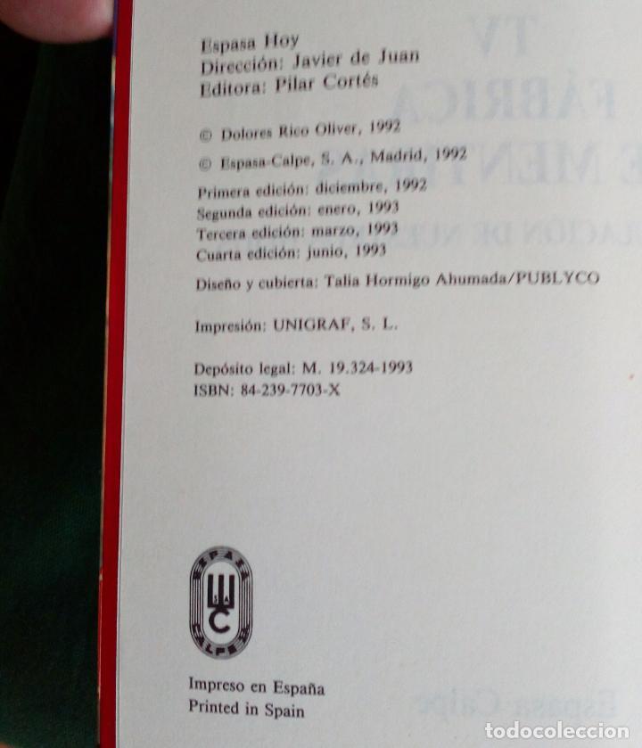 Libros de segunda mano: TV FÀBRICA DE MENTIRAS - LOLO RICO - ESPASA 1993. - Foto 5 - 84813148