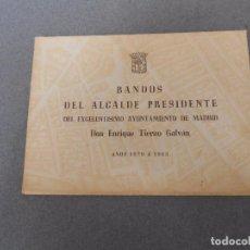 Libros de segunda mano: BANDOS DE ENRIQUE TIERNO GALVAN. Lote 88343220