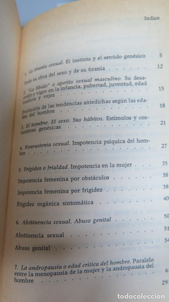 Libros de segunda mano: EL HOMBRE LA MUJER Y EL PROBLEMA SEXUAL. DR. I. ALGORA GORBEA - Foto 2 - 88842008