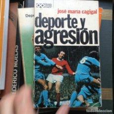 Libros de segunda mano: DEPORTE Y AGRESIÓN. J. Mª. CAGIGAL. Lote 89712428
