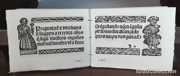 Libros de segunda mano: LIBRO DE MOTES DE DAMAS Y CABALLEROS. VALENCIA 1535. EDICIÓ FACSÍMÍL. EDICIONS TORCULUM. 1951. - Foto 3 - 90972585