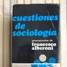 Libros de segunda mano: CUESTIONES DE SOCIOLOGÍA. EDITORIAL HERDER. FRANCESCO ALBERONI. Lote 91698714