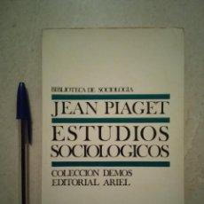 Libros de segunda mano - ANTIGUO LIBRO - ESTUDIOS SOCIOLOGICOS - Sociologia - JEAN PIAGET - AÑO 1977 - 92583580