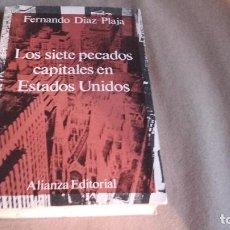 Libros de segunda mano: LOS SIETE PECADOS CAPITALES EN ESTADOS UNIDOS - DÍAZ-PLAJA, FERNANDO. Lote 92712895