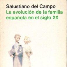 Libros de segunda mano: SALUSTIANO DEL CAMPO : EVOLUCIÓN DE LA FAMILIA ESPAÑOLA EN EL SIGLO XX (ALIANZA UNIVERSIDAD, 1982). Lote 94813043
