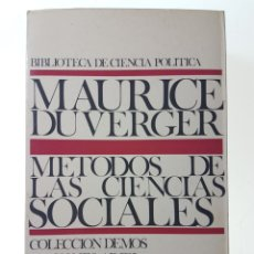 Gebrauchte Bücher - METODOS DE LAS CIENCIAS SOCIALES - DUVERGER, MAURICE - 99054759