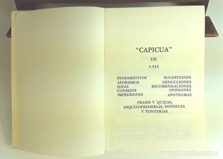 Libros de segunda mano: CAPICUA DE 5555. ANTONIO SOLANO. TIPOGRAFIA EMPÒRIUM. 1985. - Foto 3 - 99650651