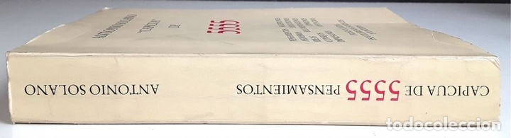 Libros de segunda mano: CAPICUA DE 5555. ANTONIO SOLANO. TIPOGRAFIA EMPÒRIUM. 1985. - Foto 7 - 99650651
