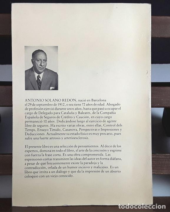 Libros de segunda mano: CAPICUA DE 5555. ANTONIO SOLANO. TIPOGRAFIA EMPÒRIUM. 1985. - Foto 8 - 99650651
