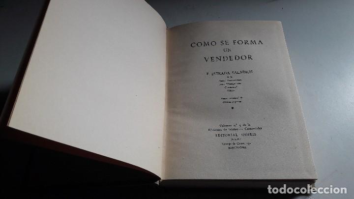 Libros de segunda mano: COMO SE FORMA UN VENDEDOR...F. ESTRADA SALADICH....1958... - Foto 2 - 101133827