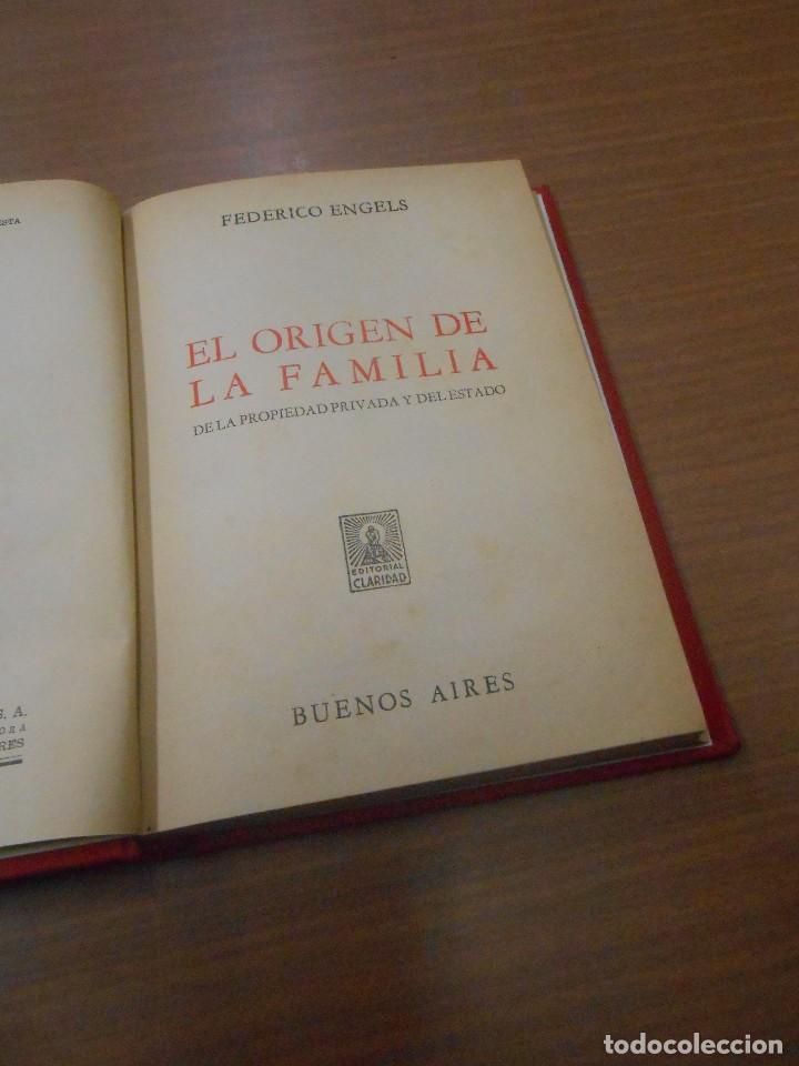 FEDERICO ENGELS EL ORIGEN DE LA FAMILIA DE LA PROPIEDAD PRIVADA Y DEL ESTADO BUENOS AIRES 1970 (Libros de Segunda Mano - Pensamiento - Sociología)