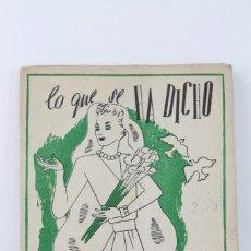 Libros de segunda mano: LIBRO ANTIGUO - LO QUE SE HA DICHO DE LAS CASADAS / SELECCIÓN DE PENSAMIENTOS - EDITORIAL TARTESSOS . Lote 103299135