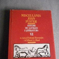 Libros de segunda mano: MISCEL-LANIA JOAN FUSTER. Lote 103411843