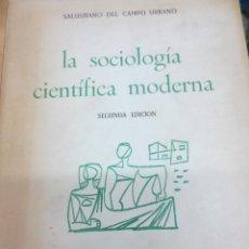 Libros de segunda mano: LA SOCIOLOGÍA CIENTÍFICA MODERNA SALUSTIANO DEL CAMPO URBANO INSTITUTO DE ESTUDIOS POLÍTICOS 1965. Lote 103944831