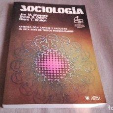 Libros de segunda mano: SOCIOLOGIA . SHEPARD, ODOM Y BRUTON . LIMUSA .. Lote 106220083