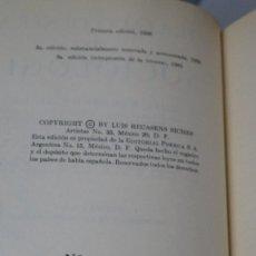 Libros de segunda mano: PRIMERA EDICION. SOCIOLOGIA. LUIS RECASENS. ED. MEXICO. EDICION NUMERADA. Lote 107285283