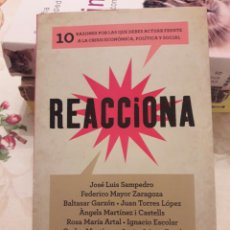 Libros de segunda mano: REACCIONA. CRISIS ECONÓMICA. SAMPEDRO. LIBRO.. Lote 108321156