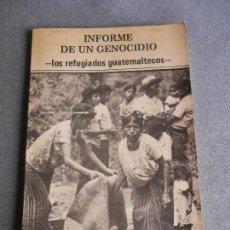 Libros de segunda mano: INFORME DE UN GENOCIDIO. Lote 109577191