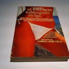 Libros de segunda mano: GABRIEL PLAZA MOLINA. EL TRIÁNGULO DE LAS VERDURAS. VISIÓN DEL HUMOR ESPAÑOL MODERNO... 1980. Lote 109626619