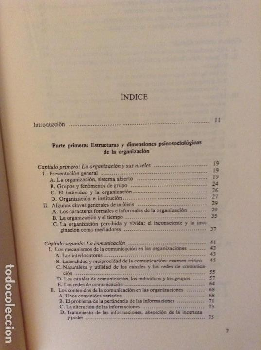 Libros de segunda mano: PSICOSOCIOLOGIA DE LAS ORGANIZACIONES (FRANÇOIS PETIT) HERDER - Foto 4 - 159915804