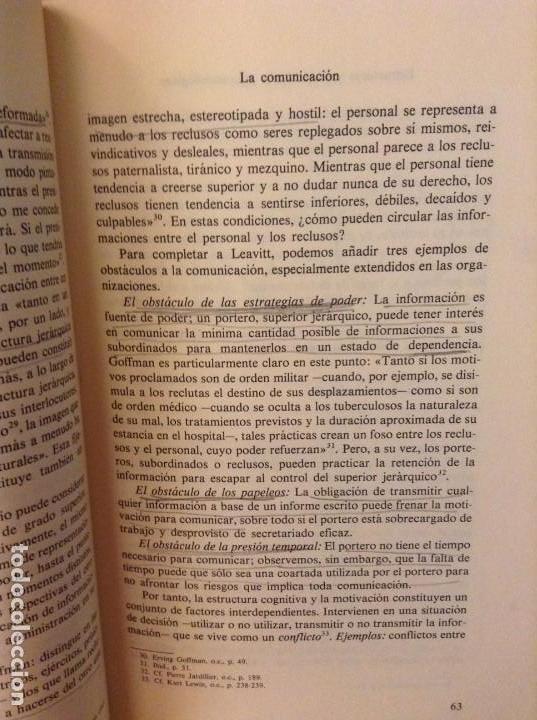 Libros de segunda mano: PSICOSOCIOLOGIA DE LAS ORGANIZACIONES (FRANÇOIS PETIT) HERDER - Foto 8 - 159915804
