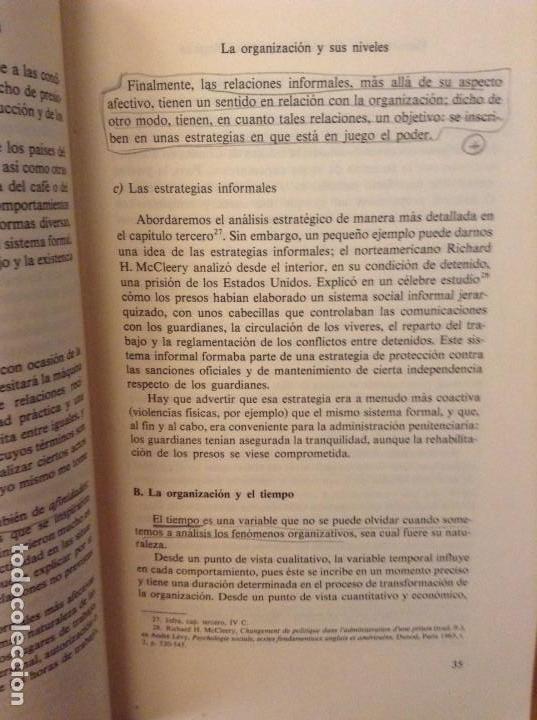 Libros de segunda mano: PSICOSOCIOLOGIA DE LAS ORGANIZACIONES (FRANÇOIS PETIT) HERDER - Foto 9 - 159915804