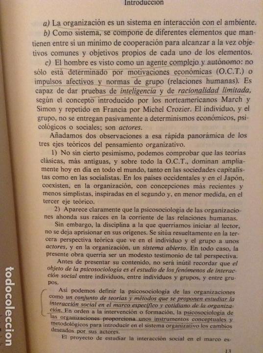 Libros de segunda mano: PSICOSOCIOLOGIA DE LAS ORGANIZACIONES (FRANÇOIS PETIT) HERDER - Foto 12 - 159915804