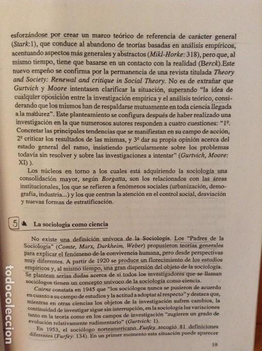 Libros de segunda mano: SOCIOLOGIA DE LAS RELACIONES INDUSTRIALES EN LA SOCIEDAD POSTMODERNA (LUIS SARRIES SANZ) - Foto 5 - 110016671